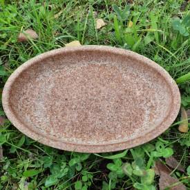 Miska oválna z pšeničných otrúb - jedlý riad