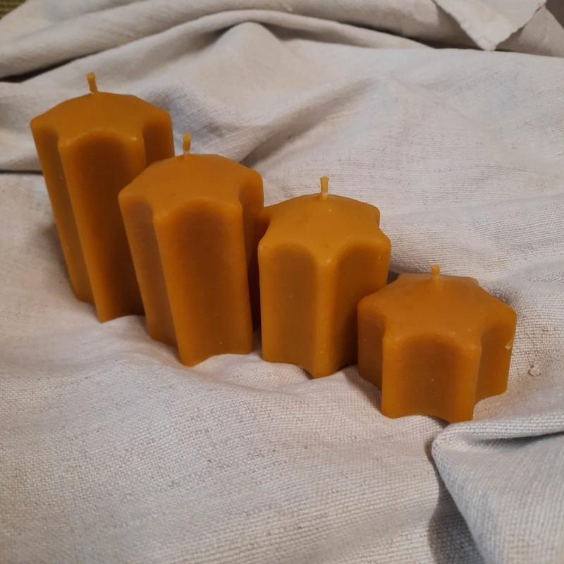 Sviečka zo včelieho vosku - Sada na adventný veniec 4ks