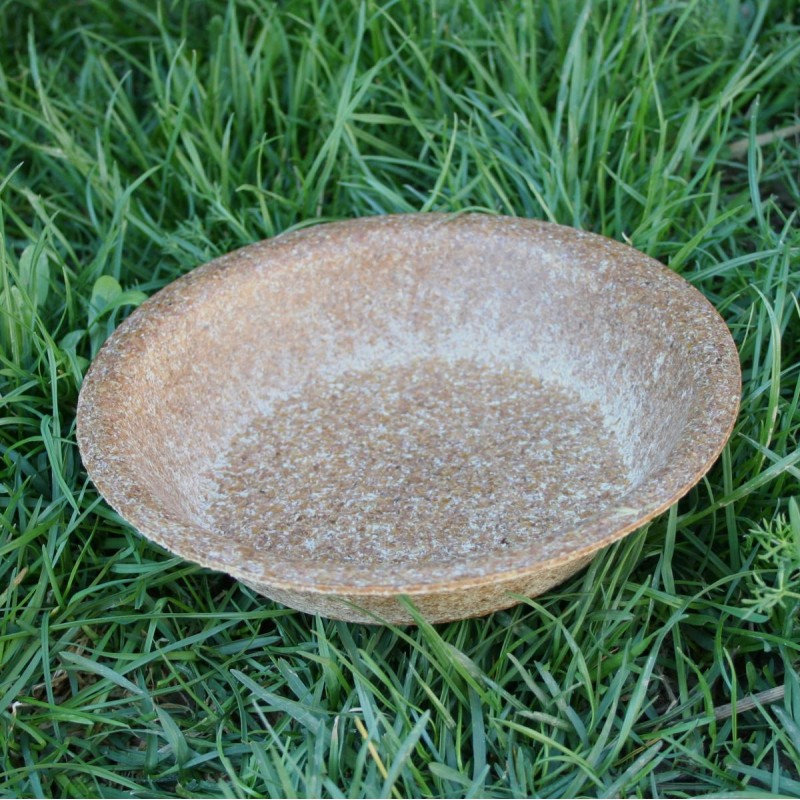 Tanier hlboký z pšeničných otrúb - jedlý riad
