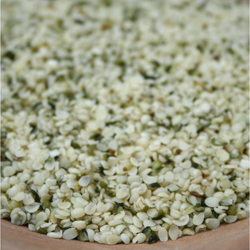 Konopné semienka lúpané