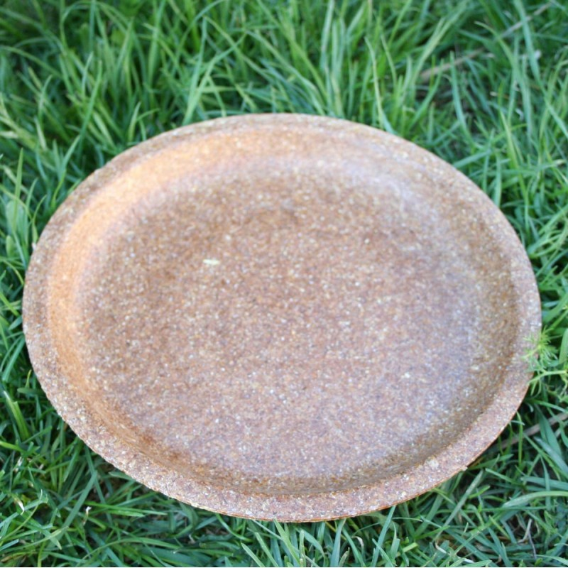 Tanier plytký z pšeničných otrúb - jedlý riad