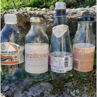 Recyklovaná sklenená fľaša